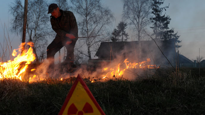 Un incendio nell'area di esclusione di Chernobyl potrebbe causare un forte aumento di radioattività nell'atmosfera
