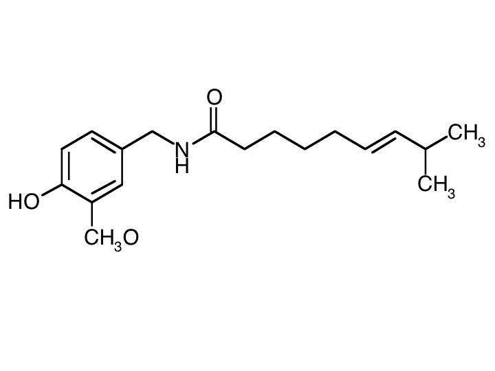 La struttura della capsaicina
